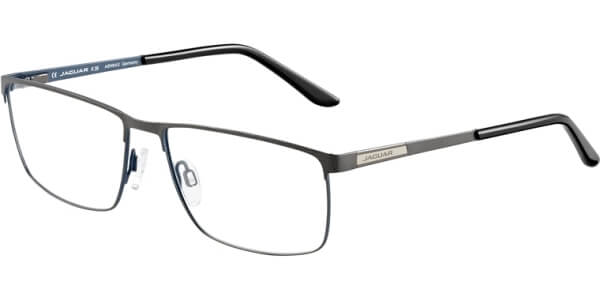 Dioptrické brýle Jaguar model 33087, barva obruby šedá modrá mat, stranice šedá modrá mat, kód barevné varianty 1097.