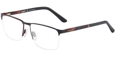 Dioptrické brýle Jaguar model 33089, barva obruby černá mat, stranice hnědá mat, kód barevné varianty 1112.