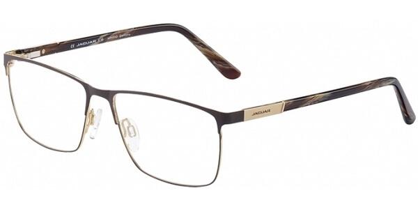 Dioptrické brýle Jaguar model 33092, barva obruby hnědá zlatá mat, stranice hnědá zlatá lesk, kód barevné varianty 1087.