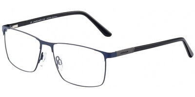 Dioptrické brýle Jaguar model 33094, barva obruby modrá mat, stranice černá lesk, kód barevné varianty 3100.