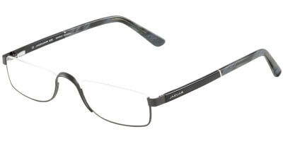 Dioptrické brýle Jaguar model 33095, barva obruby černá mat, stranice černá šedá lesk, kód barevné varianty 1063.