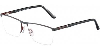 Dioptrické brýle Jaguar model 33100, barva obruby černá červená mat, stranice černá lesk, kód barevné varianty 1177.