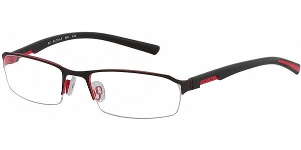 Dioptrické brýle Jaguar model 33513, barva obruby černá mat, stranice černá červená lesk, kód barevné varianty 452.