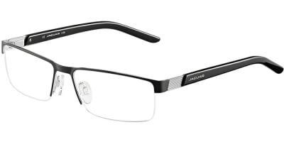 Dioptrické brýle Jaguar model 33563, barva obruby černá mat, stranice černá stříbrná lesk, kód barevné varianty 891.