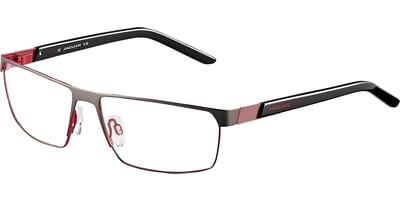 Dioptrické brýle Jaguar model 33564, barva obruby černá mat, stranice černá červená lesk, kód barevné varianty 902.