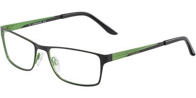 Dioptrické brýle Jaguar model 33567, barva obruby černá mat, stranice černá zelená mat, kód barevné varianty 889.