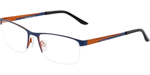 Dioptrické brýle Jaguar model 33568, barva obruby modrá mat, stranice modrá oranžová mat, kód barevné varianty 942.