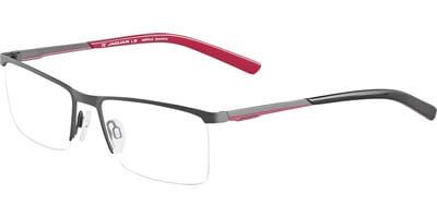 Dioptrické brýle Jaguar model 33575, barva obruby šedá mat, stranice šedá červená mat, kód barevné varianty 981.
