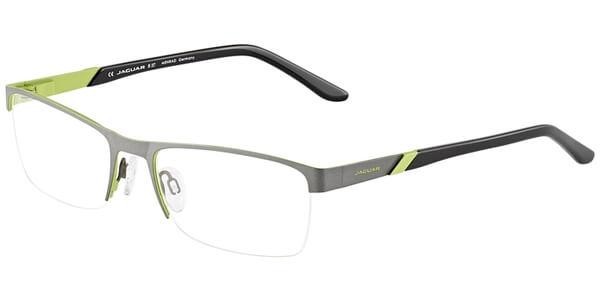 Dioptrické brýle Jaguar model 33579, barva obruby šedá zelená mat, stranice černá mat, kód barevné varianty 1014.