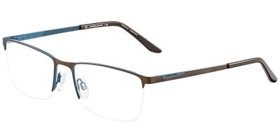 Dioptrické brýle Jaguar model 33587, barva obruby hnědá modrá mat, stranice hnědá modrá mat, kód barevné varianty 1077.