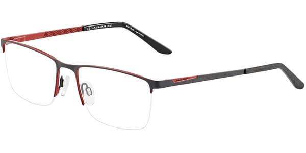 Dioptrické brýle Jaguar model 33587, barva obruby šedá červená mat, stranice šedá červená mat, kód barevné varianty 1093.