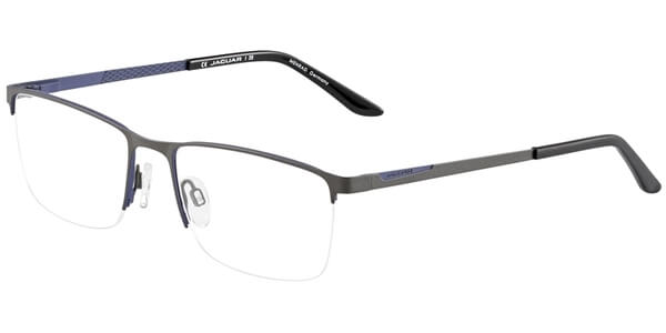 Dioptrické brýle Jaguar model 33587, barva obruby šedá modrá mat, stranice šedá modrá mat, kód barevné varianty 1094.