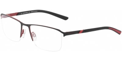 Dioptrické brýle Jaguar model 33593, barva obruby černá červená mat, stranice černá červená mat, kód barevné varianty 1068.