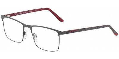 Dioptrické brýle Jaguar model 33594, barva obruby černá mat, stranice hnědá červená mat, kód barevné varianty 1120.