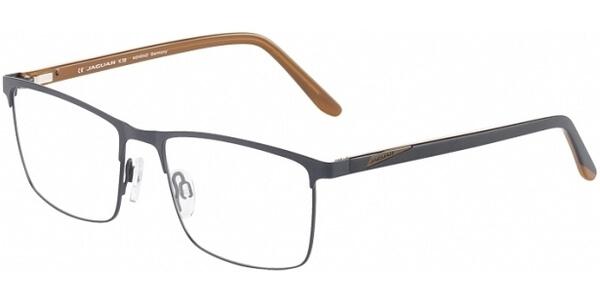 Dioptrické brýle Jaguar model 33594, barva obruby černá mat, stranice černá hnědá mat, kód barevné varianty 1123.