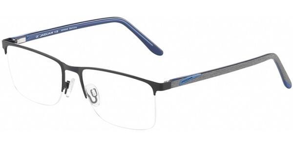 Dioptrické brýle Jaguar model 33595, barva obruby černá mat, stranice šedá modrá mat, kód barevné varianty 6100.