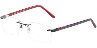 Dioptrické brýle Jaguar model 33596, barva obruby černá mat, stranice černá červená mat, kód barevné varianty 6100.