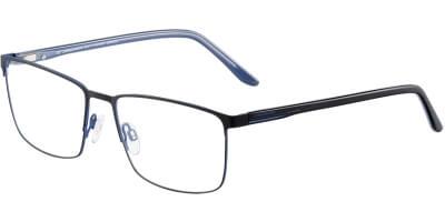 Dioptrické brýle Jaguar model 33603, barva obruby černá modrá lesk, stranice černá modrá lesk, kód barevné varianty 1170.