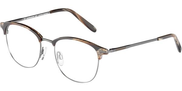 Dioptrické brýle Jaguar model 33706, barva obruby hnědá stříbrná lesk, stranice stříbrná mat, kód barevné varianty 6809.