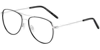 Dioptrické brýle Jaguar model 33710, barva obruby černá stříbrná lesk, stranice stříbrná lesk, kód barevné varianty 6100.