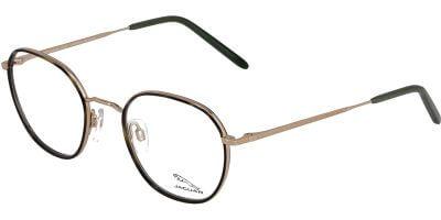 Dioptrické brýle Jaguar model 33716, barva obruby černá zlatá lesk, stranice zlatá lesk, kód barevné varianty 6000.