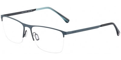 Dioptrické brýle Jaguar model 33823, barva obruby šedá modrá mat, stranice šedá černá mat, kód barevné varianty 1139.
