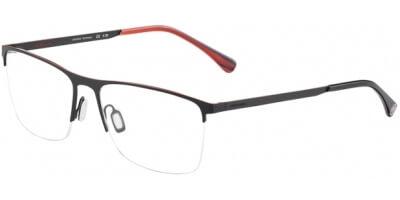 Dioptrické brýle Jaguar model 33823, barva obruby černá oranžová mat, stranice černá oranžová mat, kód barevné varianty 6100.