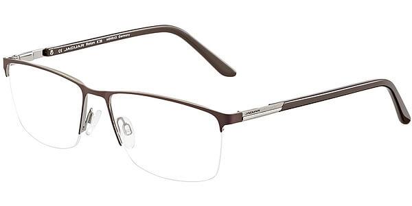 Dioptrické brýle Jaguar model 35050, barva obruby hnědá stříbrná mat, stranice hnědá lesk, kód barevné varianty 1087.