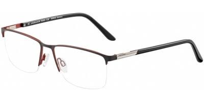 Dioptrické brýle Jaguar model 35050, barva obruby černá červená mat, stranice černá lesk, kód barevné varianty 6100.