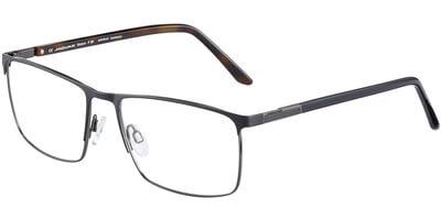 Dioptrické brýle Jaguar model 35051, barva obruby černá mat, stranice černá hnědá lesk, kód barevné varianty 6100.