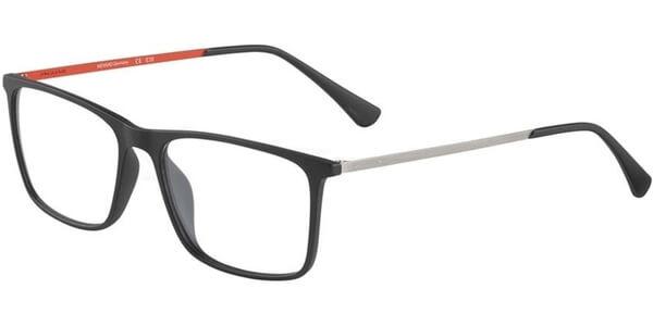 Dioptrické brýle Jaguar model 36803, barva obruby černá mat, stranice šedá červená mat, kód barevné varianty 6100.