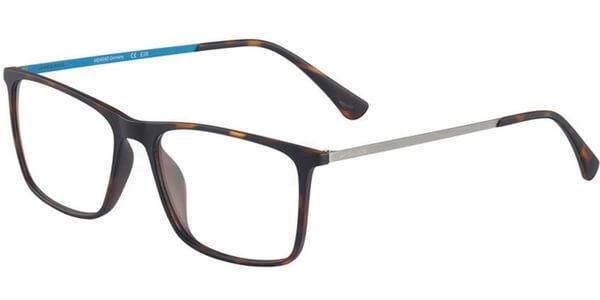 Dioptrické brýle Jaguar model 36803, barva obruby hnědá mat, stranice šedá modrá mat, kód barevné varianty 8940.
