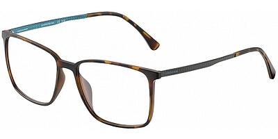 Dioptrické brýle Jaguar model 36804, barva obruby hnědá mat, stranice šedá modrá mat, kód barevné varianty 8940.