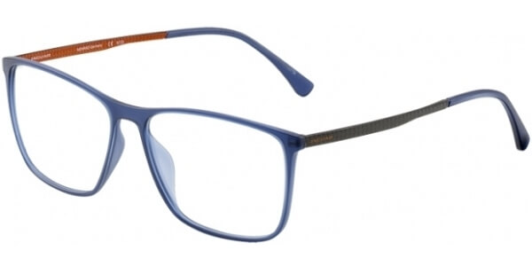 Dioptrické brýle Jaguar model 36805, barva obruby modrá mat, stranice šedá oranžová mat, kód barevné varianty 3100.