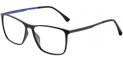 Dioptrické brýle Jaguar model 36805, barva obruby černá mat, stranice šedá modrá mat, kód barevné varianty 6100.