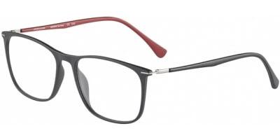 Dioptrické brýle Jaguar model 36806, barva obruby černá mat, stranice černá červená mat, kód barevné varianty 6100.