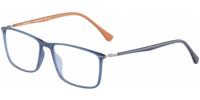 Dioptrické brýle Jaguar model 36807, barva obruby modrá mat, stranice modrá oranžová mat, kód barevné varianty 3100.