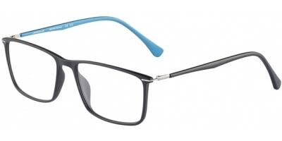 Dioptrické brýle Jaguar model 36807, barva obruby černá mat, stranice černá modrá mat, kód barevné varianty 6100.