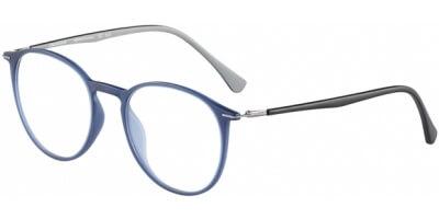 Dioptrické brýle Jaguar model 36808, barva obruby modrá mat, stranice černá šedá mat, kód barevné varianty 3100.