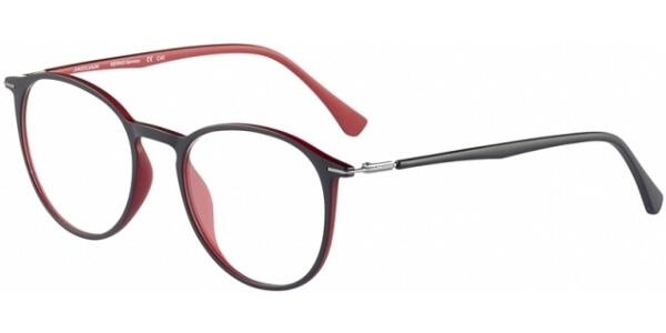 Dioptrické brýle Jaguar model 36808, barva obruby černá červená mat, stranice černá červená mat, kód barevné varianty 6100.