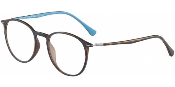 Dioptrické brýle Jaguar model 36808, barva obruby hnědá mat, stranice hnědá modrá mat, kód barevné varianty 8940.