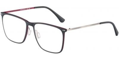 Dioptrické brýle Jaguar model 36810, barva obruby černá červená mat, stranice šedá mat, kód barevné varianty 6100.