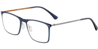 Dioptrické brýle Jaguar model 36812, barva obruby modrá mat, stranice šedá oranžová mat, kód barevné varianty 3100.