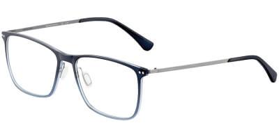 Dioptrické brýle Jaguar model 36814, barva obruby modrá mat, stranice šedá mat, kód barevné varianty 3101.