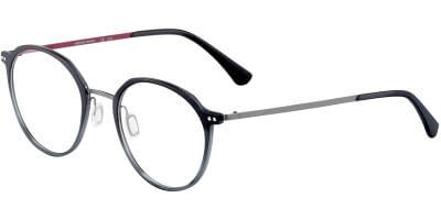 Dioptrické brýle Jaguar model 36815, barva obruby černá šedá mat, stranice šedá mat, kód barevné varianty 6100.