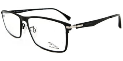Dioptrické brýle Jaguar model 39512, barva obruby černá mat, stranice černá mat, kód barevné varianty 6100.