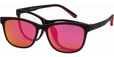 Dioptrické brýle London Club model 10, barva obruby černá červená mat, stranice černá červená mat, kód barevné varianty C3.