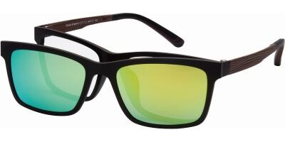 Dioptrické brýle London Club model 11, barva obruby hnědá mat, stranice hnědá mat, kód barevné varianty C1.