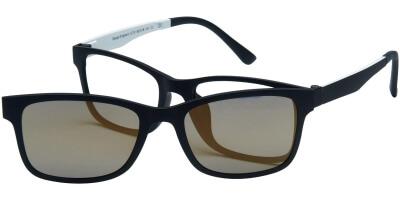 Dioptrické brýle London Club model 12, barva obruby černá mat, stranice černá bílá mat, kód barevné varianty C2.