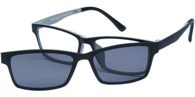 Dioptrické brýle London Club model 13, barva obruby černá šedá mat, stranice černá šedá mat, kód barevné varianty C1.